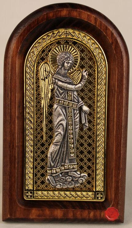 """Икона """"Ангел-Хранитель"""" на золоте — Мастерская резных икон ShatoWood"""