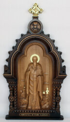 """Резная икона """"Артемий Солунский"""""""