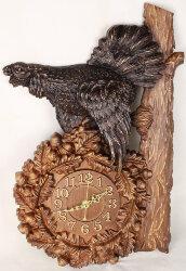 """Часы из дерева """"Глухарь"""""""