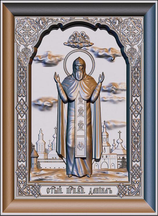 """Резная икона """"Святой князь Даниил"""" — Мастерская резных икон ShatoWood"""