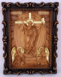 """Резная икона """"Воскресение Христово"""""""