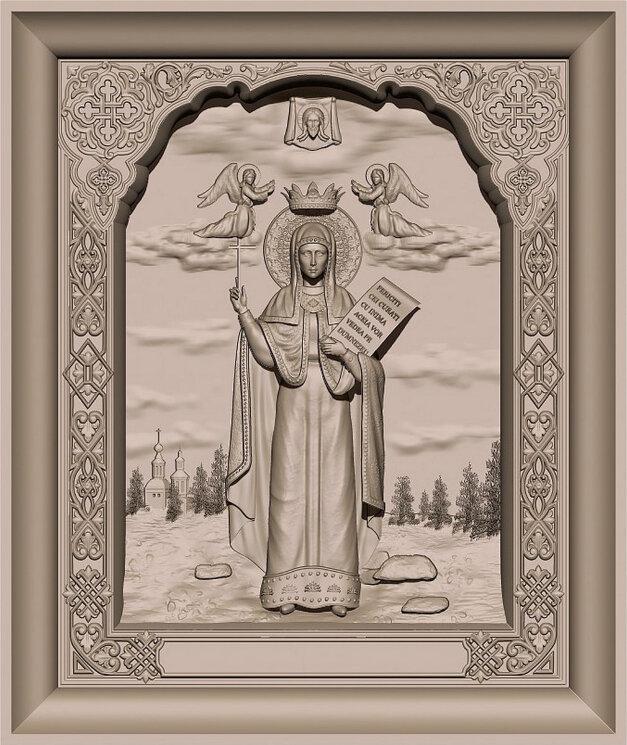 """Резная икона """"Святая Параскева"""" — Мастерская резных икон ShatoWood"""