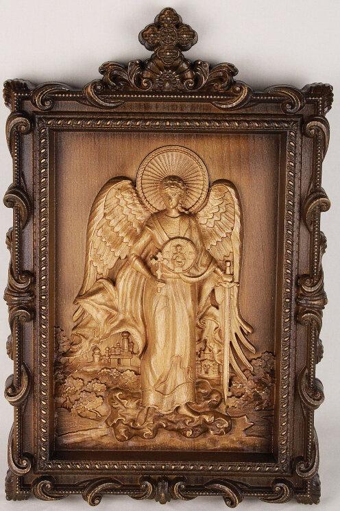 """Резная икона """"Ангел Хранитель"""" — Мастерская резных икон ShatoWood"""