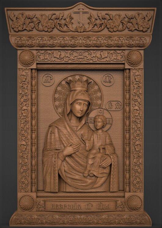 """Резная икона """"Богородица Иверская"""" — Мастерская резных икон ShatoWood"""