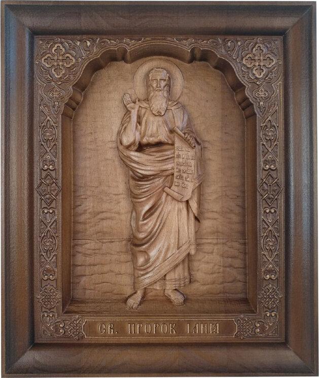"""Резная икона """"Святой Пророк Илия"""" — Мастерская резных икон ShatoWood"""