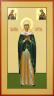 """Рукописная икона по которой была создана модель """"Святая мученица Христина тирская"""""""