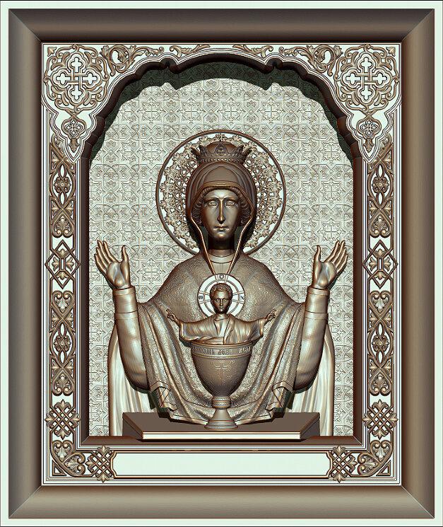 """Резная икона Божией Матери """"Неупиваемая чаша"""" — Мастерская резных икон ShatoWood"""