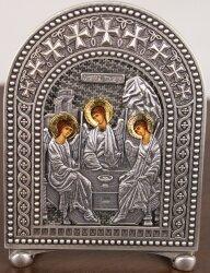 """Икона """"Святая Троица"""" на серебре"""
