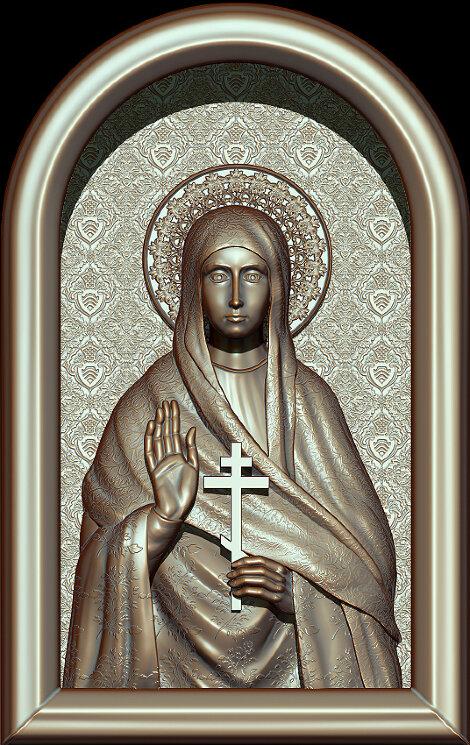 """Резная икона """"Святая преподобная мученица Евгения"""" — Мастерская резных икон ShatoWood"""