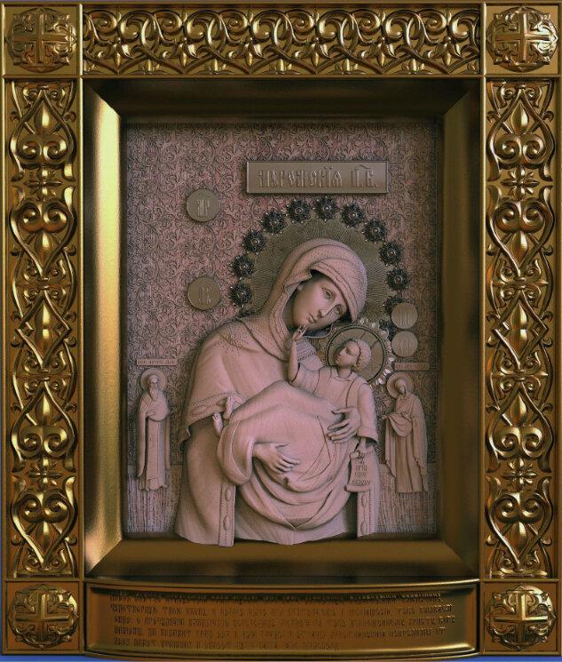 """Резная икона Божией Матери """"Муромская"""" — Мастерская резных икон ShatoWood"""