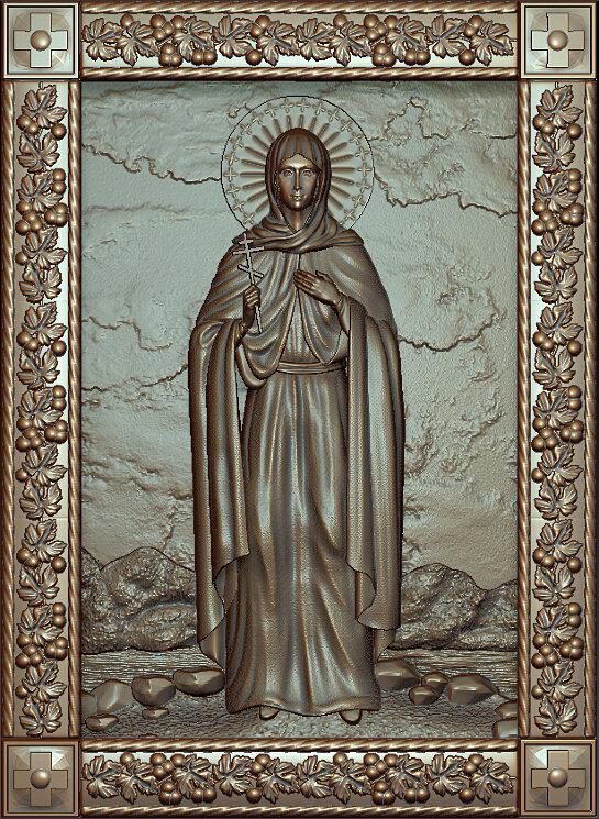 """Резная икона """"Святая мученица Виктория"""" — Мастерская резных икон ShatoWood"""