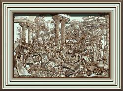 """Резное панно """"Вход Господень в Иерусалим"""""""