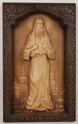 Резная икона Святая мученица Елисавета
