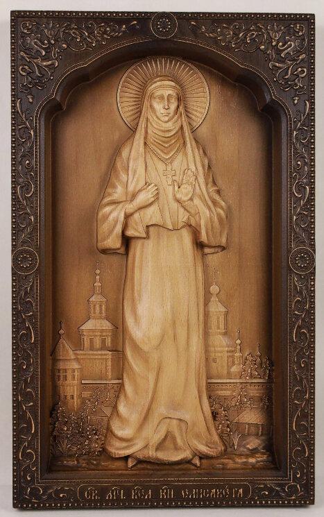 Резная икона Святая мученица Елисавета — Мастерская резных икон ShatoWood