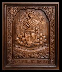 """Резная икона Божией Матери """"Спорительница хлебов"""""""