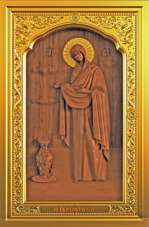 """Резная икона Божией Матери """"Геронтисса"""" — Мастерская резных икон ShatoWood"""