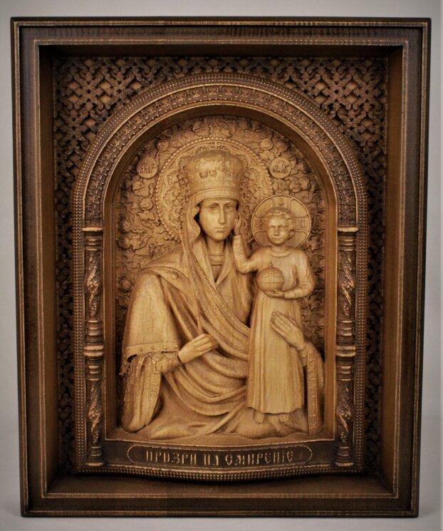 """Резная икона Божией Матери """"Призри на смирение"""" — Мастерская резных икон ShatoWood"""
