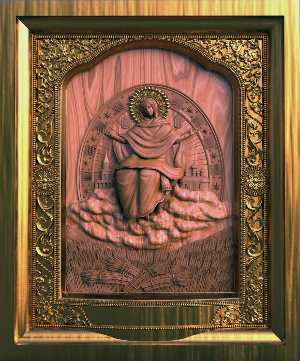 """Резная икона Божией Матери """"Спорительница хлебов"""" (в2) — Мастерская резных икон ShatoWood"""