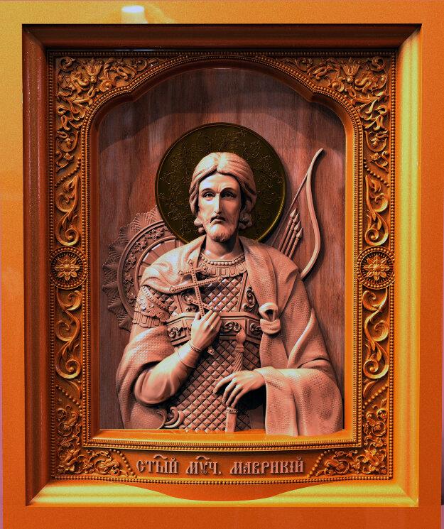 """Резная икона """"Святой мученик Маврикий"""" — Мастерская резных икон ShatoWood"""