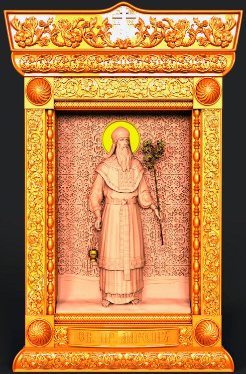 """Резная икона """"Святой пророк Аарон"""" — Мастерская резных икон ShatoWood"""