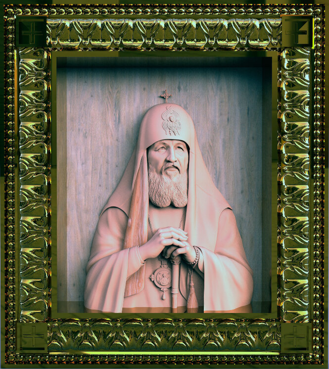 Патриарх Московский и Всея Руси - Кирилл — Мастерская резных икон ShatoWood