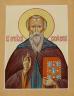 """Рукописная икона по которой была создана модель """"Святой преподобный Сисой Великий"""""""