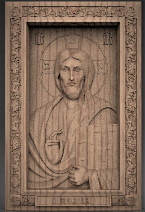 Христос Пантократор из Синайского монастыря — Мастерская резных икон ShatoWood
