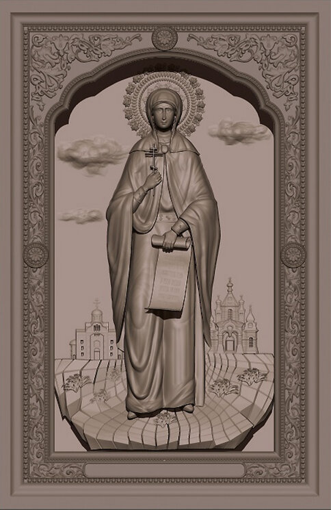 """Резная икона """"Святая блаженная Таисия Египетская"""" — Мастерская резных икон ShatoWood"""